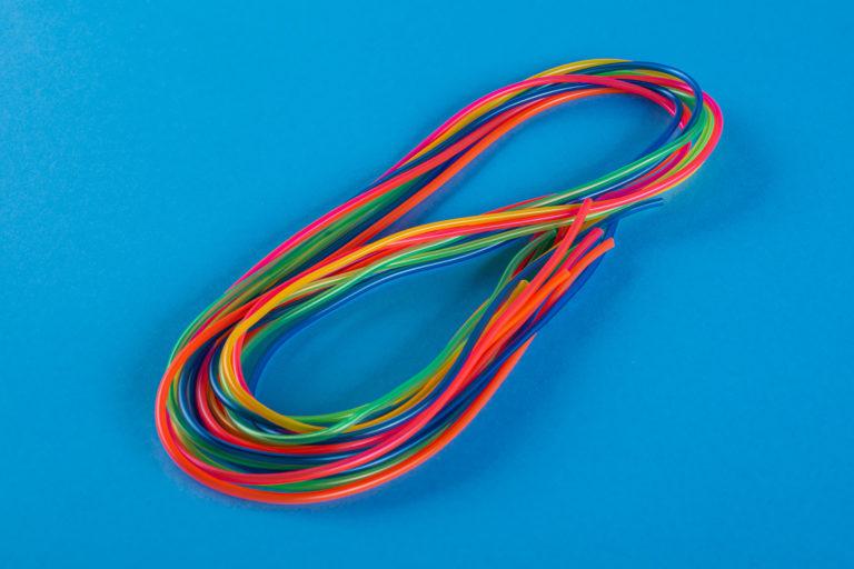 Kolorowe wężyki fluoro